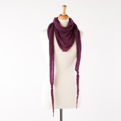 Heather soft lambswool bandanna scarf