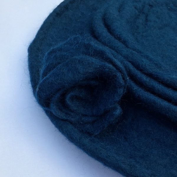 felted hat - ocean blue