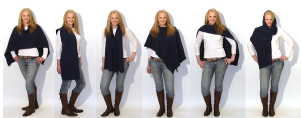 6 six ways to wear the Wool Booth poncho