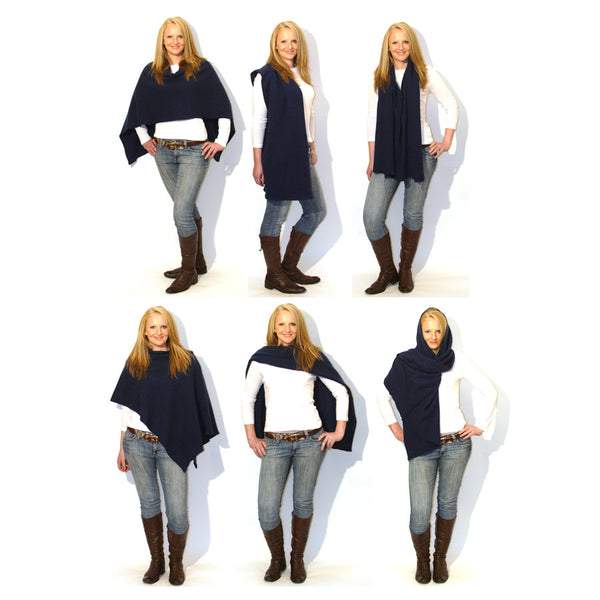 six ways to wear The Wool Booth poncho