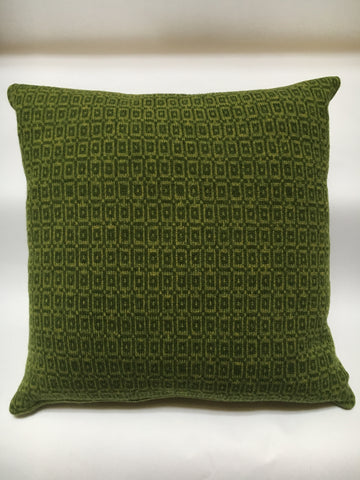 Knitted Merino Lambswool Cushion  - 50cm x 50cm two tones of green