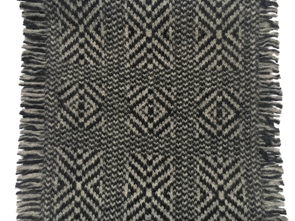 geometric pattern of The Wool Booth scarf