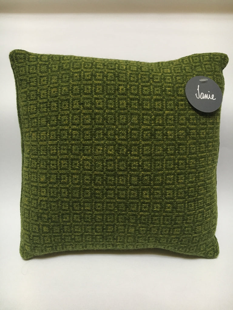 Knitted Merino Lambswool Cushion  square tile design