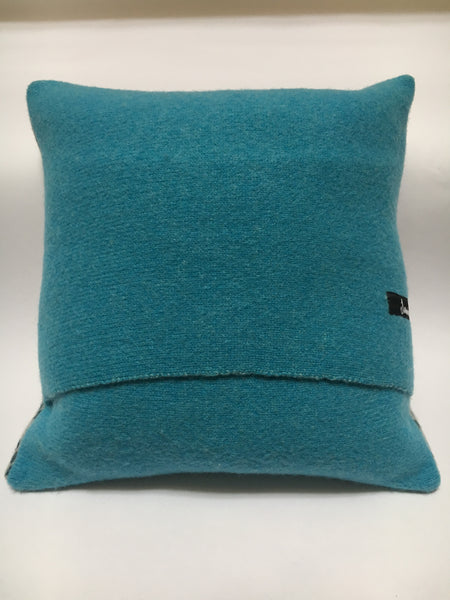 Aqua blue knitted back