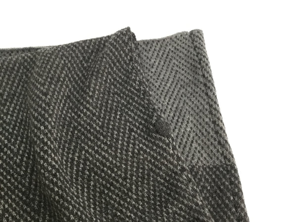 herringbone knitted merino lambswool