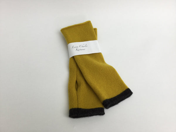 100% lambswool Mustard Coloured Beret