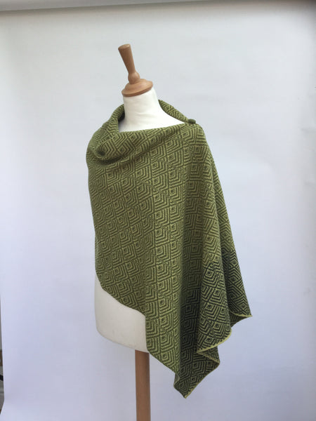 The Wool Booth's herringbone designed poncho
