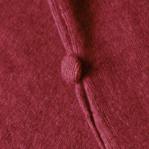 Raspberry Red Merino lambswool Poncho