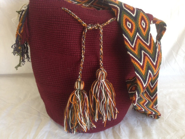 Sac bag mochila unicolor rouge bordeaux