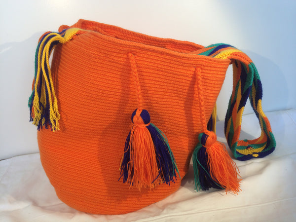 Sac bag mochila unicolor orange