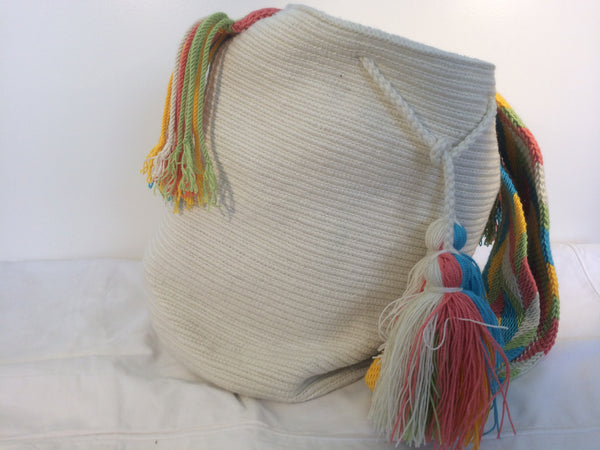 Sac bag mochila unicolor blanc