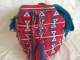 Sac bag mochila multicolor rouge bleu blanche