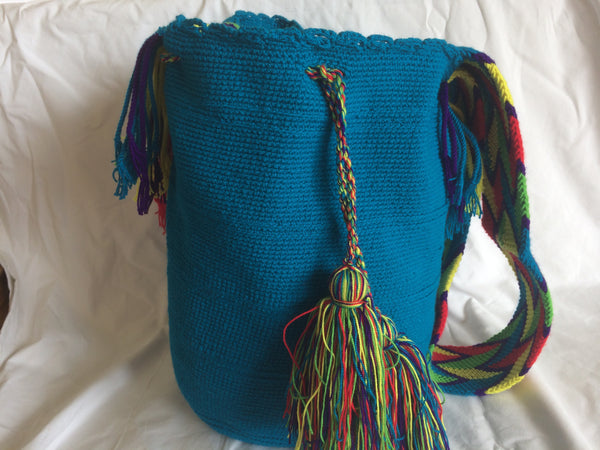 Sac bag mochila unicolor bleu azur