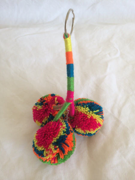 Porte-clé pompon - key ring
