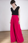 The Millie Palazzo Pants - Flared Palazzo Pants - Floor length - Lauren Lynn London