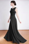 The Emma Maxi Dress in Black -  The Emma Maxi Dress in Black -  lace bodice open back. This stunning maxi dress with open back detail and sheer lace overlay the neckline make this Lauren Lynn London maxi dress a true stunner.   The Emma Maxi Dress will be the perfect piece for any occasion you have this year.