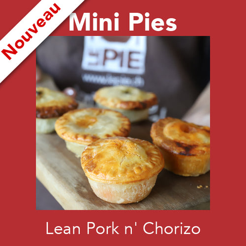 Mini Lean Pork n' Chorizo<br>Mini Pies
