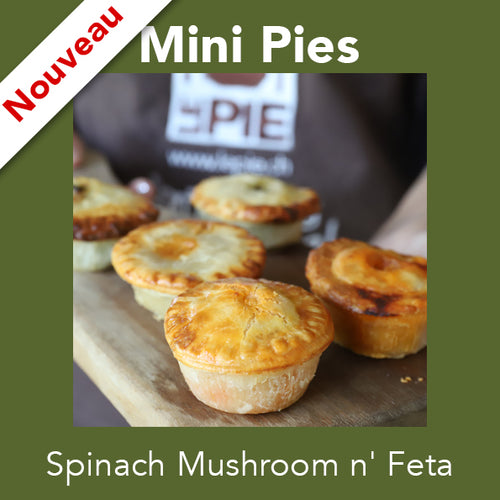 Mini Spinach Mushroom n' Feta <br>Mini Pies