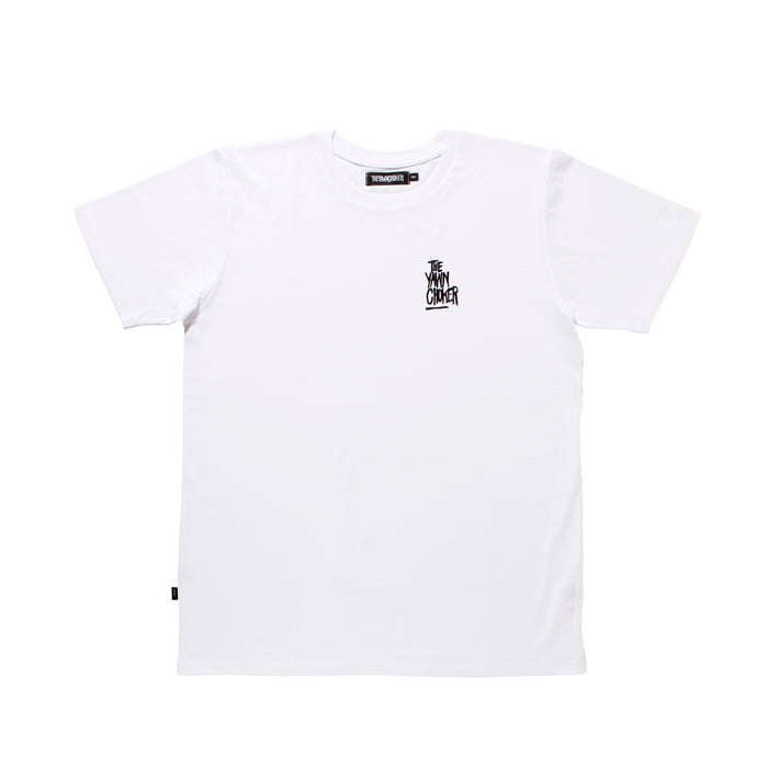 Authentic 3-Way Logo Tee/White
