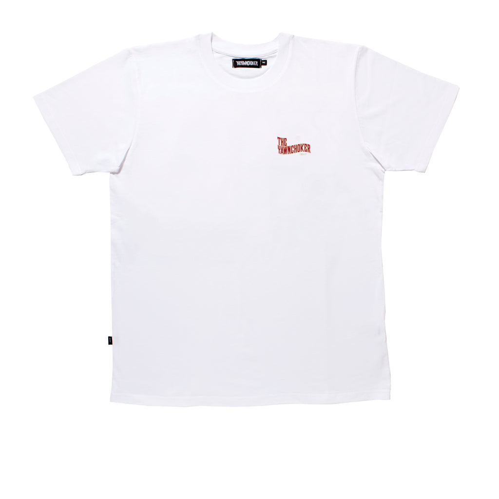 New School Tee/White - TheYawnChoker