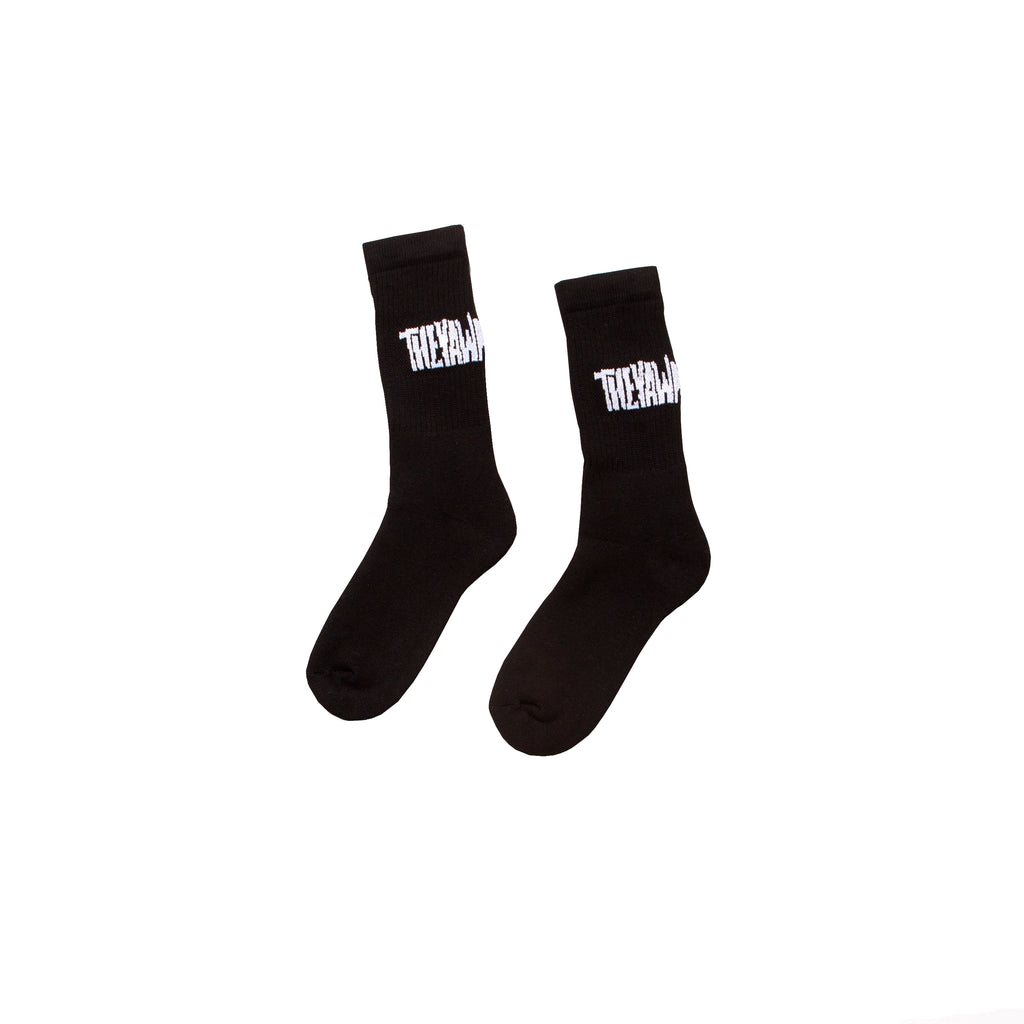 No Slant Logo Sock/Black-White - TheYawnChoker