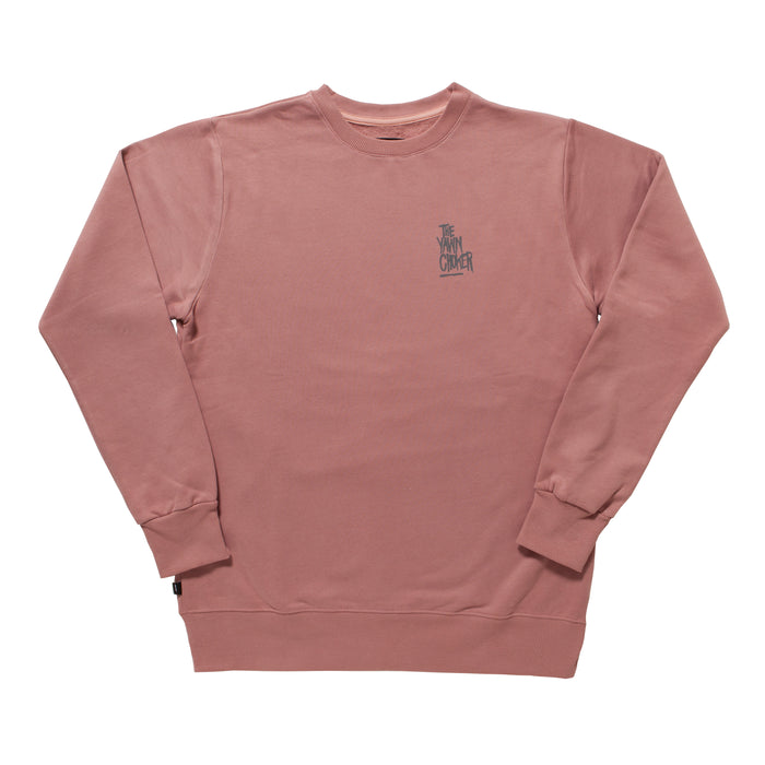 Authentic 3-Way Logo Crewneck/Light Coral - TheYawnChoker