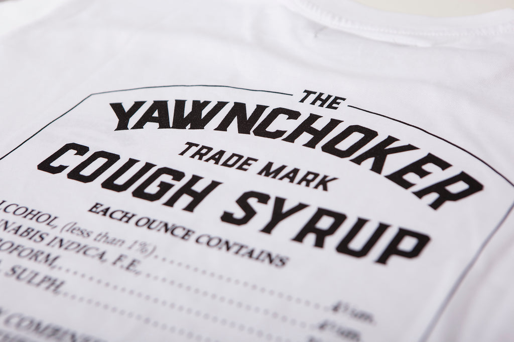 Cough Syrup Tee/White - TheYawnChoker