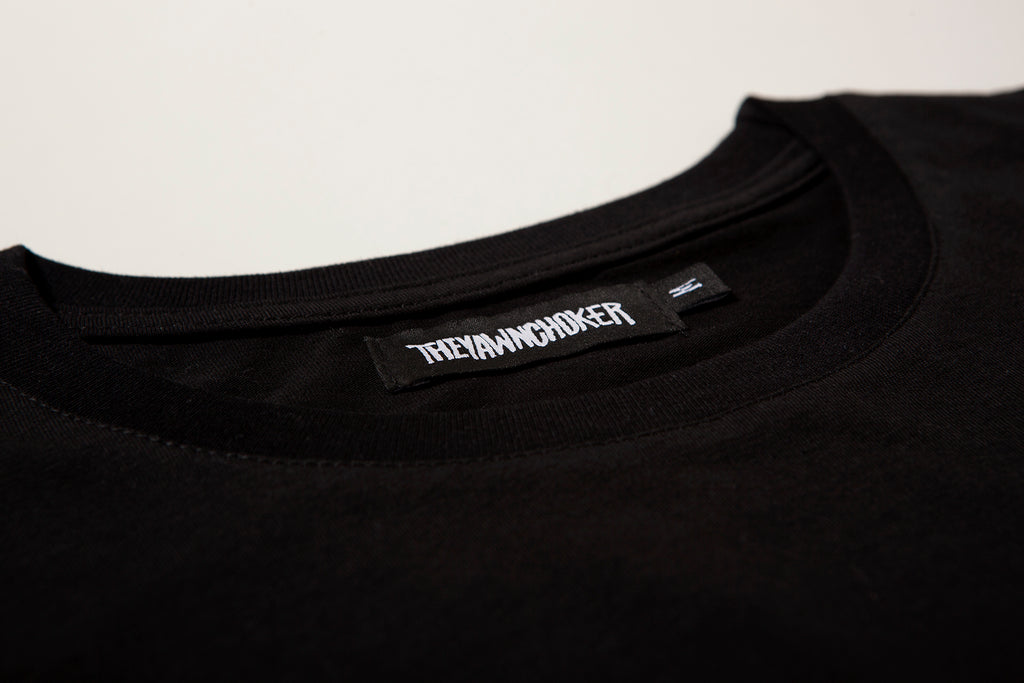 Authentic 3-Way Logo Tee/Black - TheYawnChoker
