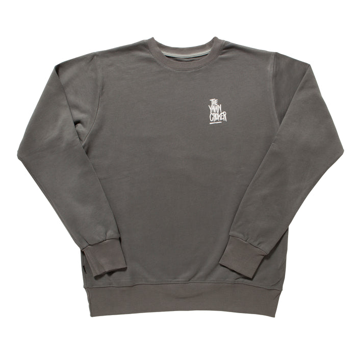Authentic 3-Way Logo Crewneck/Grey