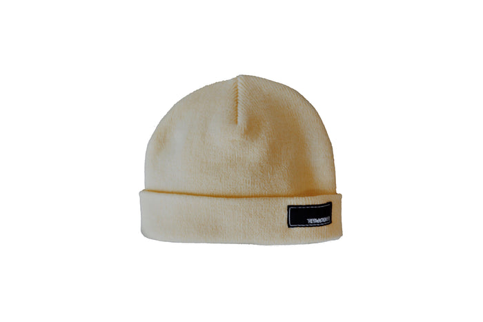 No Slant Cuff Beanie - Powder Yellow