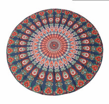 Summer round beach towel microfiber - Orange