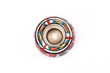 Moroccan Ashtray - Medium size - White & Red & blue