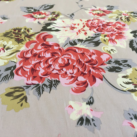 "alt=""cotton sateen - natural floral"""