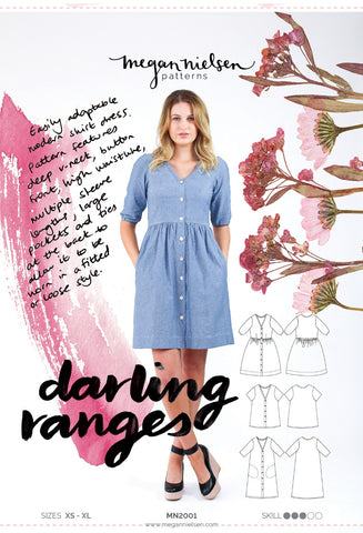 "alt=""Megan Nielsen Darling Ranges Dress Blouse Pattern"""