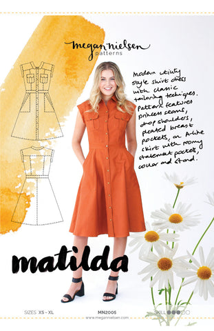 "alt=""Megan Nielsen Matilda Shirt Dress Pattern"""