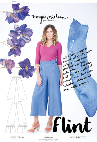 "alt=""Megan Nielsen Flint Pants Shorts Pattern"""