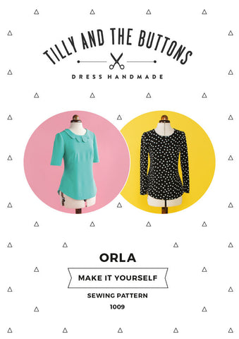 "alt=""Tilly and the Buttons Orla Shift Top Blouse Pattern"""