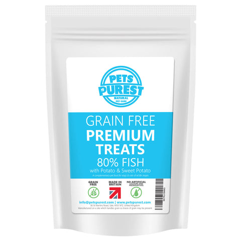 100% Natural Grain Free 80% Fish Meat Premium Treats | 500g