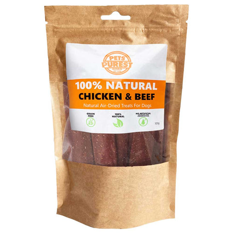 100% Natural Pure Chicken & Beef Treats | 100g