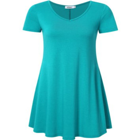 Women's Casual Short Sleeve Loose Fit Swing T-Shirt Tunic Dress,,,, short sleeve design for your daily wear -RivPage.Com-Kenya