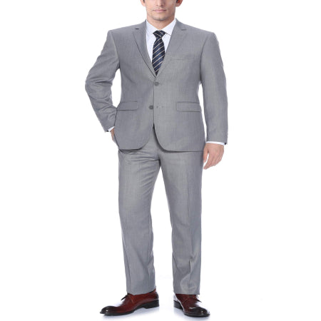 Verno Bellomi Big Men's Light Grey Classic Fit Italian Styled Two Piece Suit - Quality & Original Product All From USA - RivPage.Com