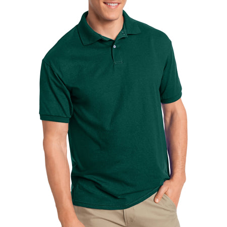 Hanes Big Men's EcoSmart Short Sleeve Jersey Golf Shirt Quality & Original Product From USA - RivPage.Com
