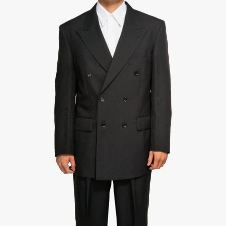 Mens Black Double Breasted (DB) Dress Suit - Includes Jacket & Pants - Quality & Original Product All From USA - RivPage.Com