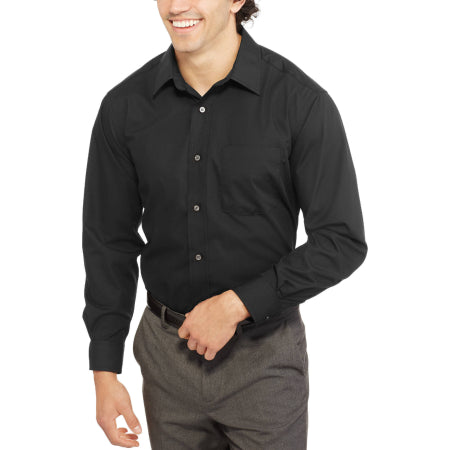 George Men's Long Sleeve Poplin Dress Shirt - Quality & Original Product All From USA - RivPage.Com