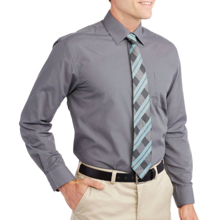 Generic Men's Solid Dress Shirt with Matching Tie- Quality & Original Product All From USA - RivPage.Com