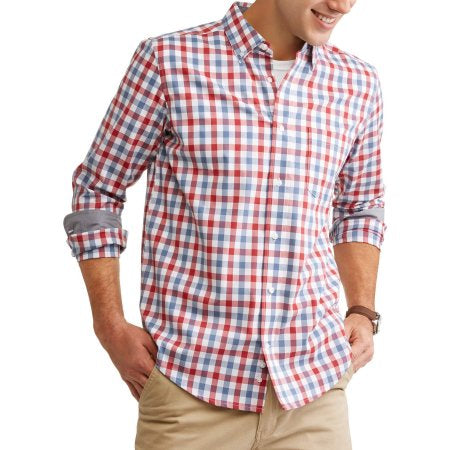 George Big Men's Long Sleeve Stretch Poplin Woven Shirts- Quality & Original Product from USA - RivPage.Com