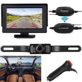 ZSMJ Wireless Backup Camera and Monitor Kit 9V-24V Rear View System-RivPage.Com-Kenya