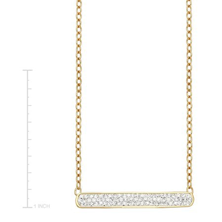 Luminesse Luminesse Bar Necklace with Swarovski Crystals in 18kt Gold-Plated Sterling Silver-RivPage.Com-Kenya