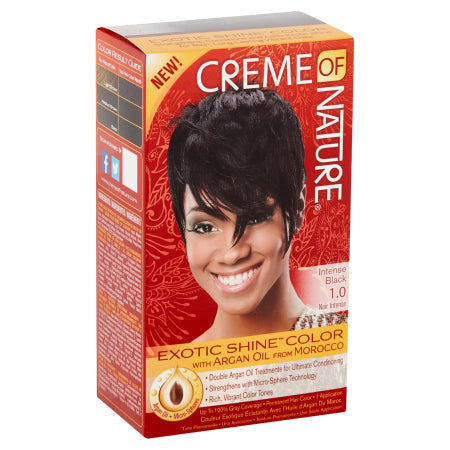Creme of Nature Exotic Shine Color Intense Black Permanent Hair Color, Quality & Original product from USA – RivPage.Com