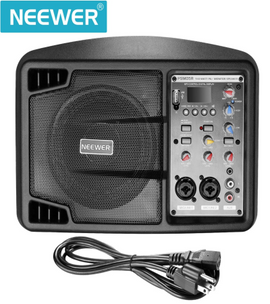 Neewer Stereo Speaker Small PA Speaker Monitor with Remote Control, 3 Channel Mixer, 2 Band EQ, Powerful Compact Active Speaker System Amp with Mixer, Lightweight and Portable - Quality & Original Product All From USA - RivPage.Com